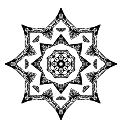 Black star pattern with hand-drawn elements vector