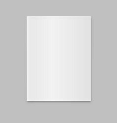 blank closed magazine newspaper mockup vector image