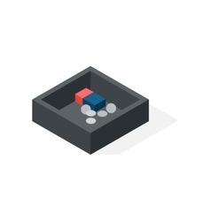 Cash box isometric vector