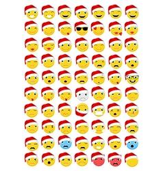 Christmas Emoticons Emoji set vector image