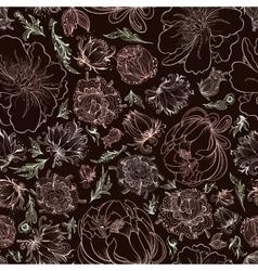 Creative Black Romantic Pattern vector image vector image