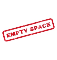Empty space text rubber stamp vector