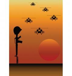 fallen soldier vector image vector image