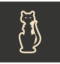 Flat in black and white mobile application cat vector image vector image