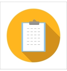 Form flat icon vector image vector image