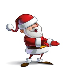 Happy Santa Presenting vector image