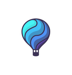 Hot air baloon logo cartoon of hot vector