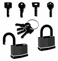 keys-locks vector image vector image