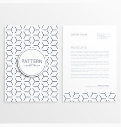 letterhead template design with pattern shape vector image vector image