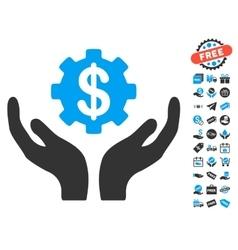 Maintenance price icon with free bonus vector