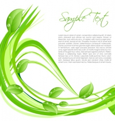 nature card with sample text vector image vector image