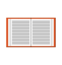 open book icon vector image vector image