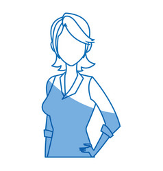 Portrait young girl business avatar design vector