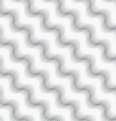 Repeating ornament many diagonal wavy lines vector image vector image