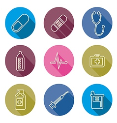 set of medical icons line vector image vector image