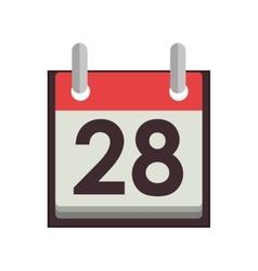 Silhouette with calendar day twenty eight vector