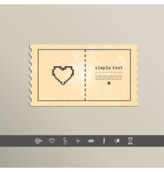 Simple stylish pixel icon heart design vector