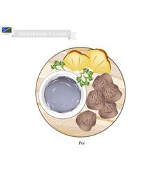 Solomonian soup or solomonian porridge vector
