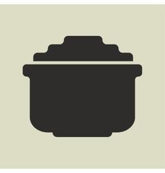 Stylized shiny cartoon pot of gold vector image