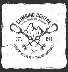 Vintage typography design with carabiners condor vector