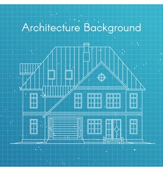 Family house or cottage architecture blueprint vector