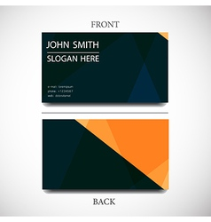 Business card with space for text vector