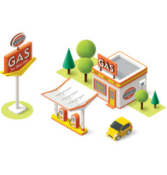 Gas filling station vector