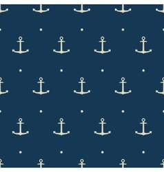 Dark blue seamless pattern with anchors vector