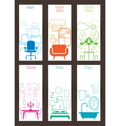 Furniture concept backdrop vector