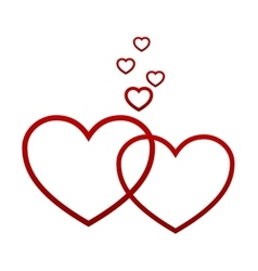 Red hearts on white vector