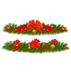 holiday christmas garlands vector image