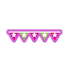 Flat icon on white background festive garland vector