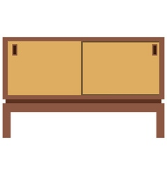 Retro furnite tv cabinet vector