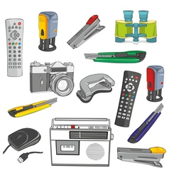 Office items vector