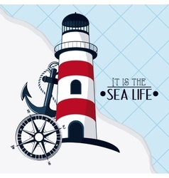 Flat about lighthouse design vector