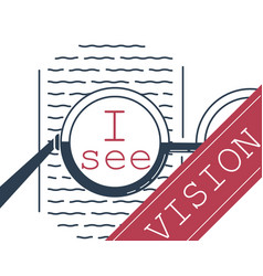 banner vision correction glasses vector image