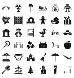 Barbecue icons set simple style vector