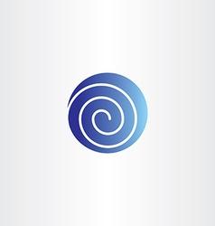 Blue circle spiral globe icon logo symbol vector