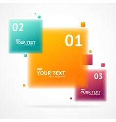 blurred colorful text boxes infographics vector image vector image