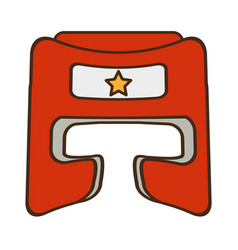 Boxer helmet equipment icon vector
