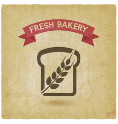 Bread bakery symbol vintage background vector