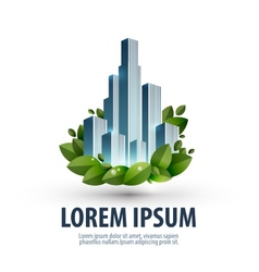 City and nature logo icon emblem template business vector image vector image