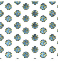 Colorful silhouette pattern globes earth world vector
