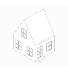 Cottage icon isometric 3d style vector image