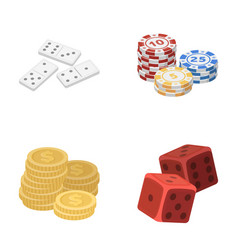 Domino bones stack of chips a pile of mont vector