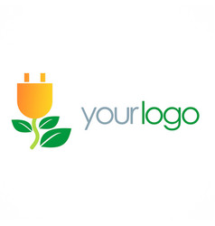 Eco electric energy logo vector