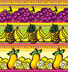 fruit striped seamless vector image