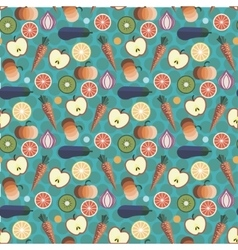 Fruits and Vegetables pattern design vector image