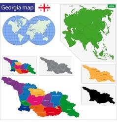 Georgia map vector