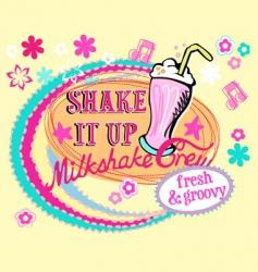 groovy milkshake vector image vector image